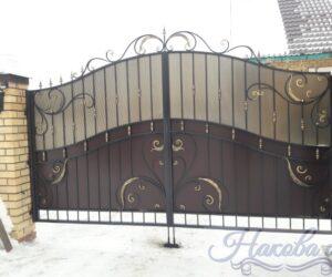 Кованые ворота распашные 2