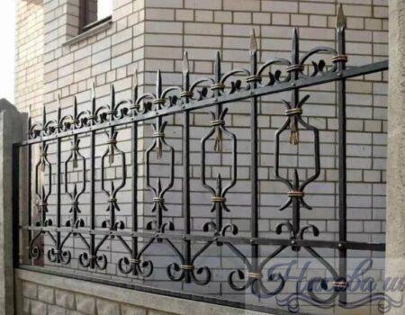 Кованый забор 11