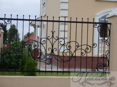 Кованый забор 19