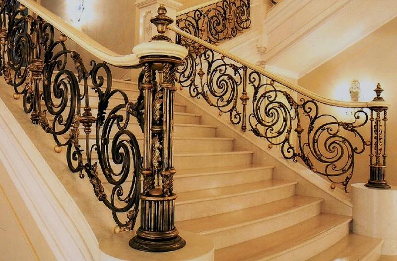 Кованые Перила для лестниц фото цены Наковали