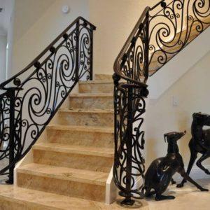 Кованые перила для лестниц в Щекино