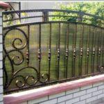 Кованый забор в Щекино