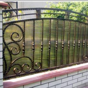 Кованый забор в Донском от Наковали
