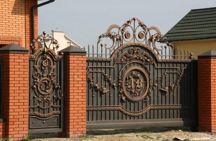 Кованые откатные ворота элита люкс
