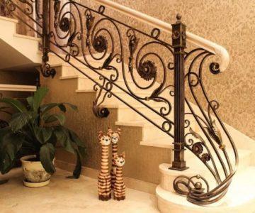 Кованые перила для лестницы цены