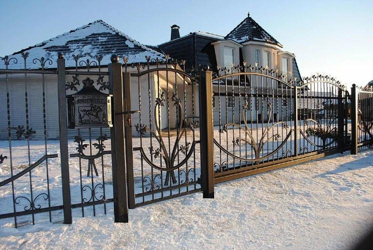 Кован-сварные ворота распашные №58 Цена: 9500 руб/м2