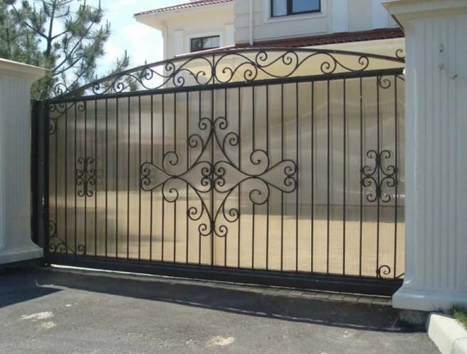 Кованые ворота откатные цена: 9700 руб/м2