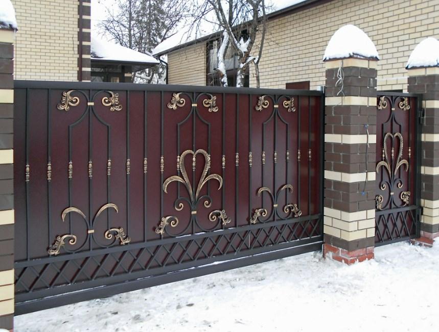 Кованые ворота откатные цена: 11900 руб/м2