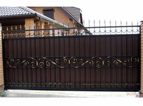 Кованые ворота откатные №28 Цена: 8900 руб/м2