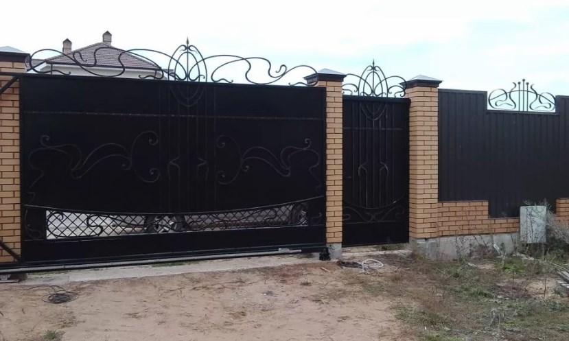 Кованые ворота откатные №29 Цена: 12300 руб/м2