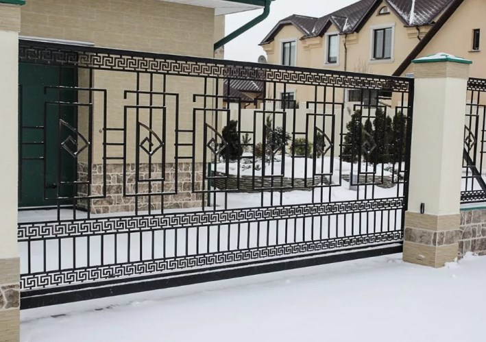 Кованые ворота откатные №25 Цена: 12500 руб/м2