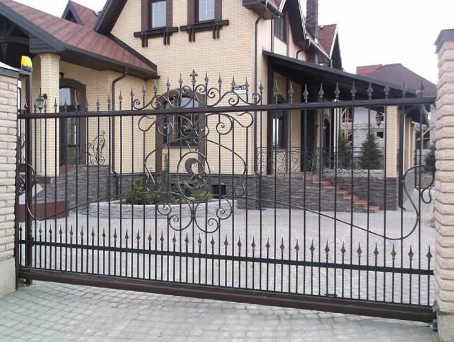 Кован-сварные ворота откатные №44 Цена: 9800 руб/м2