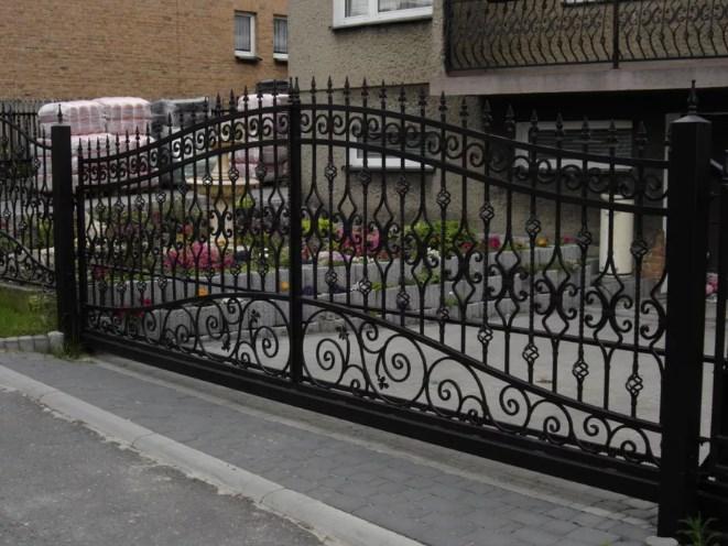 Кован-сварные ворота распашные №49 Цена: 11500 руб/м2