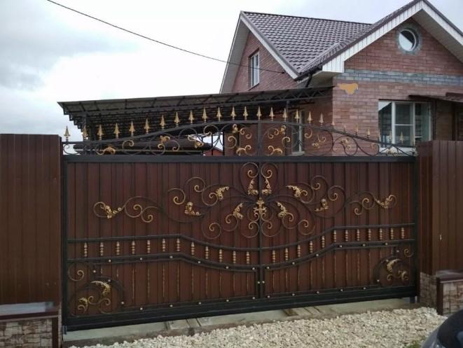 Кованые ворота откатные цена: 11800 руб/м2