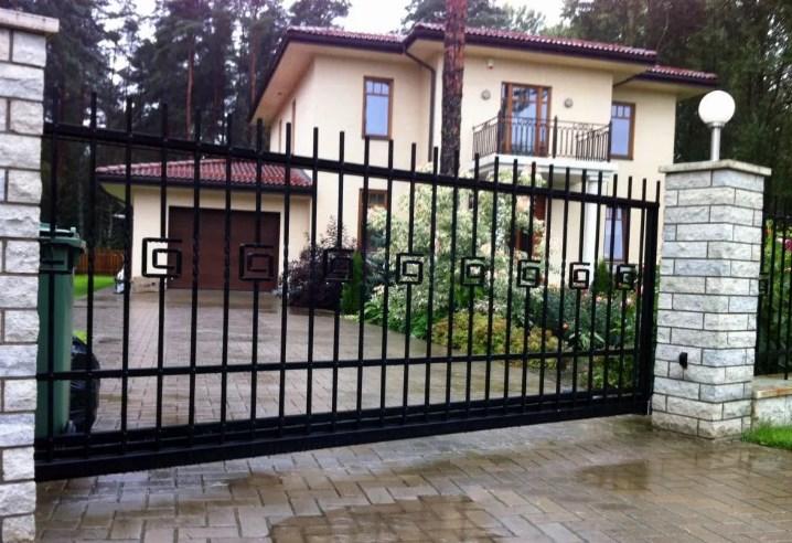 Кован-сварные ворота откатные №51 Цена: 7500 руб/м2