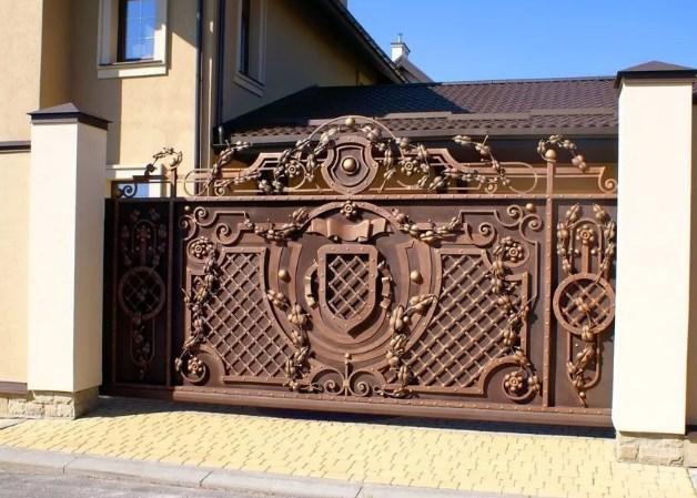Кованые ворота откатные цена: 15800 руб/м2