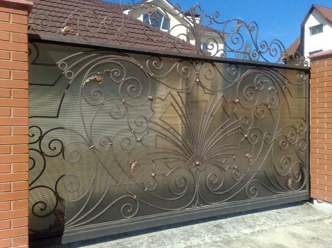 Кованые ворота откатные №40 Цена: 11900 руб/м2