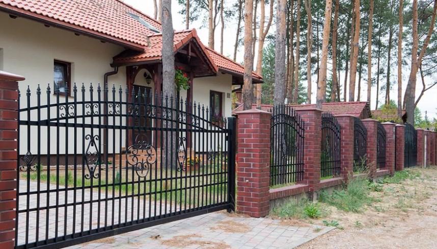 Кован-сварные ворота откатные №63 Цена: 8800 руб/м2