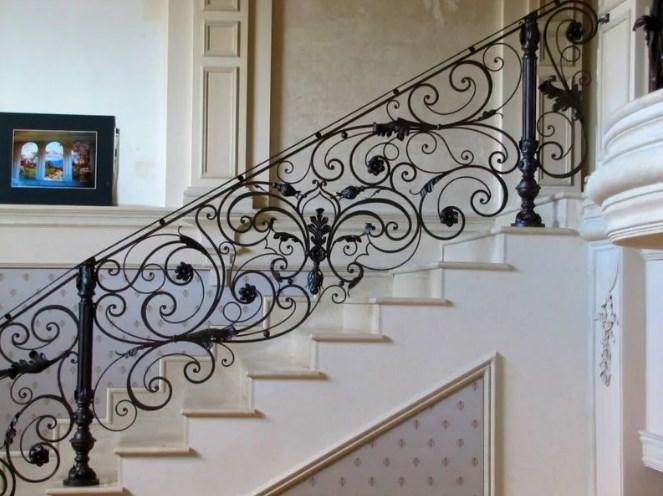 Красивые дорогие Кованые перила для лестницы цена Наковали