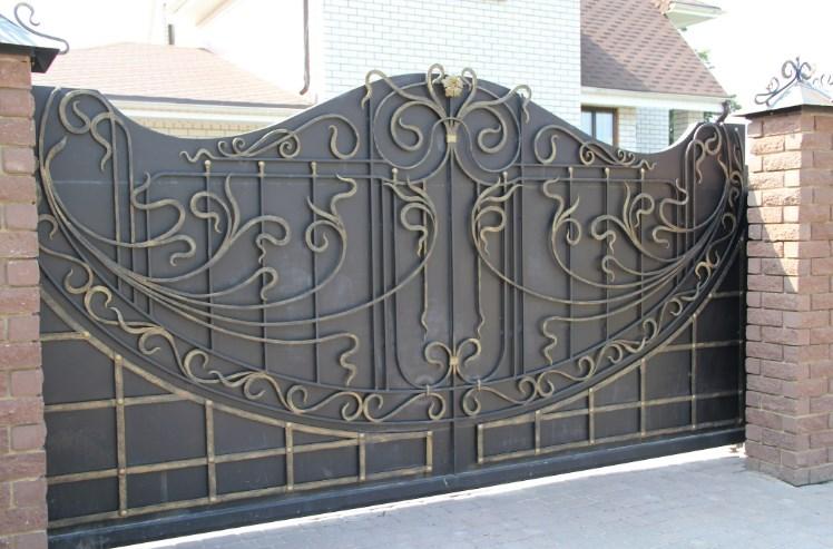 Кованые откатные ворота красиво цена Наковали
