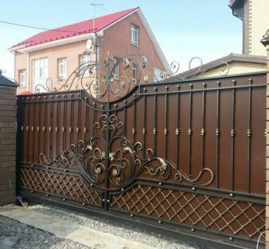 Кованые откатные ворота цена красивые Наковали