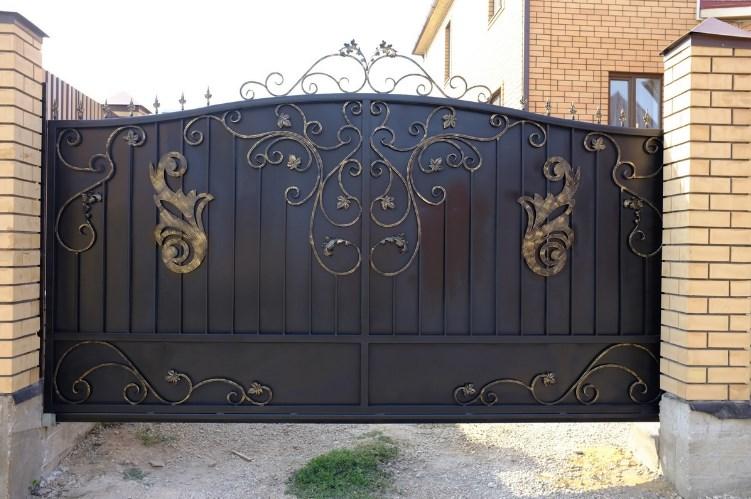 Кованые откатные ворота цена Наковали