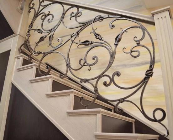Кованые перила для лестницы красивые цена Наковали