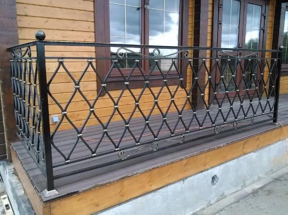 Кованые ограждения на террасу Москва Наковали