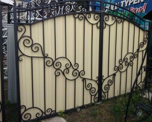 Кованые ворота в Щекино7