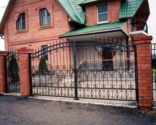 Кованые ворота 34