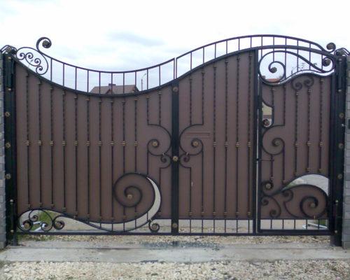 Кованые ворота коричневые от Наковали