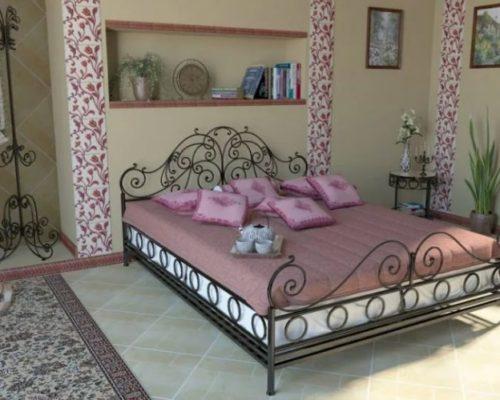 Кованая кровать и вешалка кованая мебель от Наковали