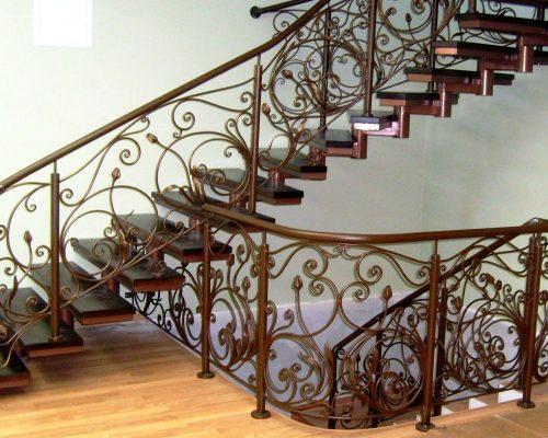 Кованые перила для лестницы 10
