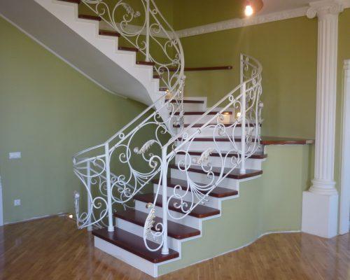 Кованые перила для лестницы 2