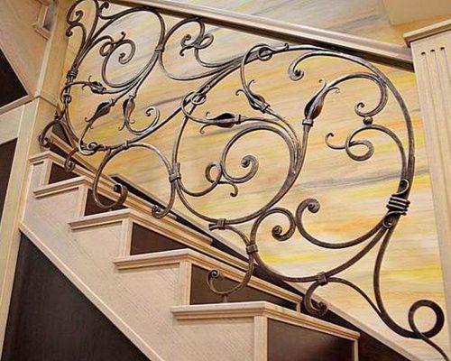 Кованые перила для лестницы в Щекино