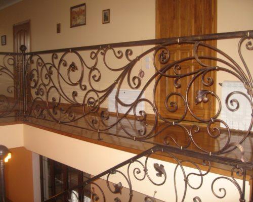 Кованые перила для лестницы 9