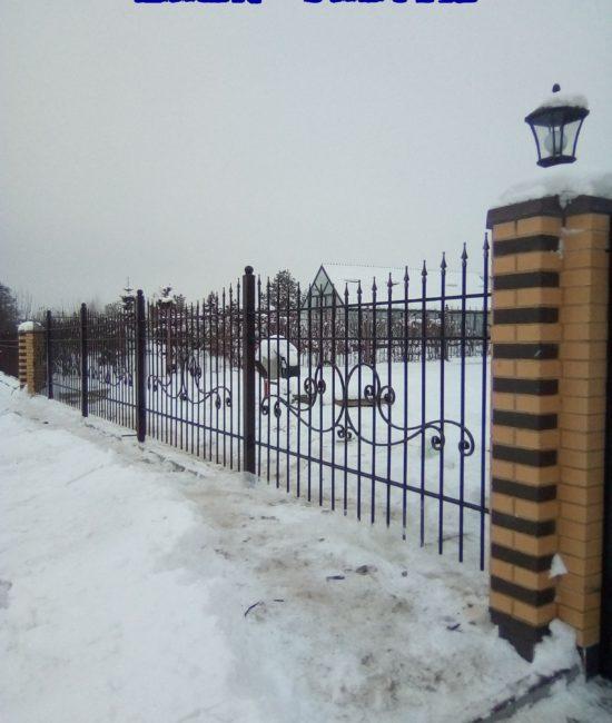 Кованый забор дешево