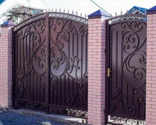 Кованые распашные ворота Наковали