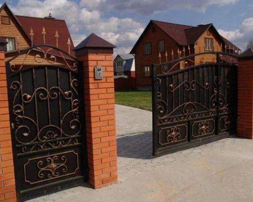 Кованые откатные ворота премиум Наковали